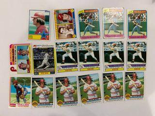 lot of 16 Pete Rose Cards 1979 Topps  204  x5   650  x4  1980 Topps  4  x4  1982 Topps  780   636  1983 Topps  101   397  1982 K Mart  44