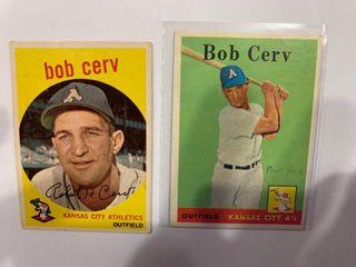 1958 Topps  329 Bob Cerv   1959 Topps  100 Bob Cerv