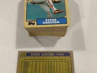 100 Card Investment lot 1987 Topps  718 Steve Carlton