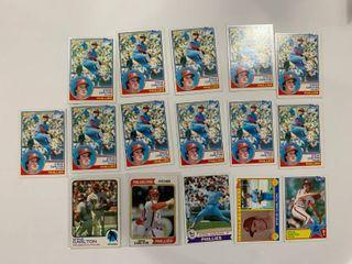 16 Card Steve Carlton lot 1973 Topps  300  1974 Topps  95  1979 Topps  25  1983 Topps  406   71   70  x11