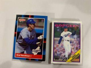 72 Card Orel Herscheiser lot 1988 Topps 1988 Donruss