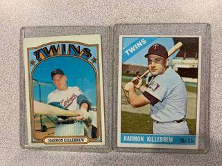 Two Cards 1966 Topps  120 Harmon Killebrew  1972 Topps  51 Harmon Killebrew