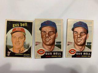 1953 Topps  118 Gus Bell  x2  1959 Topps  365