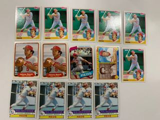 Johnny Bench lot 1979 Topps  200  x4  1980 Topps  100  1982 Fleer  57  x2  1983 Topps  61   60  x6