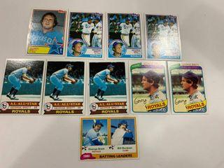 George Brett lot 1979 Topps  330  x3  1980 Topps  450  x2  1981 Topps  1  1983 Topps  388   600  x3