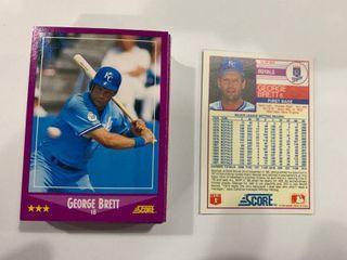 50 Card Investment lot 1988 Score  11 George Brett