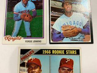 Fergie Jenkins lot 1966 Topps  254 RC  1971 Topps  280  1978 Topps  8