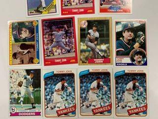 Tommy John lot 1979 Topps  255  1980 Topps  690  1983 Topps  735  736    More