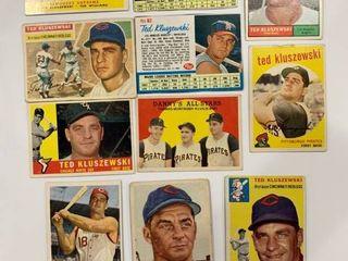 11 Card Ted Kluszewski lot 1953 Topps  162  1954 Topps  7  1956 Topps  25  1957 Topps  165  1958 Topps  321  1959 Topps  17    35  1960 Topps  505  1961 Topps  65  1961 Post Cereal  31  1962 Post Cereal  82