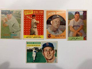 5 Card Jackie Jensen lot 1956 Topps  115  1958 Topps  489  1959 Topps  400  1957 Topps  220  1954 Bowman  2