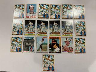19 Card Jim Palmer lot 1973 Topps  341  1970 Topps  449  1975 Topps  335  1978 Topps  160  1979 Topps  340  x4  1982 Topps  80  1983 Topps  490  x10