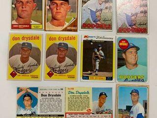 Don Drysdale lot 1959 Topps  387  x2  1961 Topps  260  1962 Topps  340  1967 Topps  55  x2  1968 Topps  145  1969 Topps  4001961 Post Cereal 1962 Post Cereal  1982 K Mart