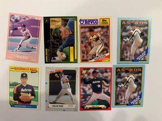 lot of 8 Oddball  Insert    Advertising Cards   Nolan Ryan