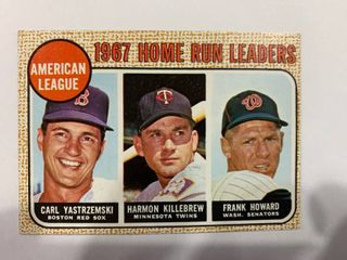 1968 Topps  6 Al Home Run leaders Yastrzemski  Killebrew  Howard   NICE CONDITION