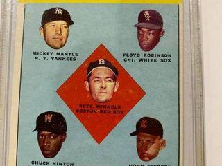 1963 Topps  2 Al Batting leaders  Mickey Mantle