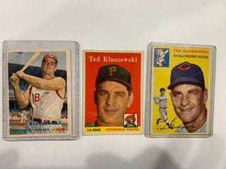 Classic Ted Kluszewski lot 1954 Topps  7  1957 Topps  165  1958 Topps  178