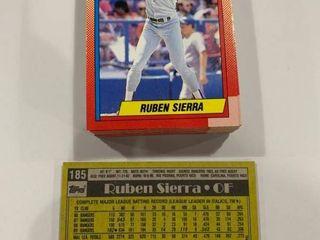 lot of 50 1990 Topps  185 Ruben Sierra