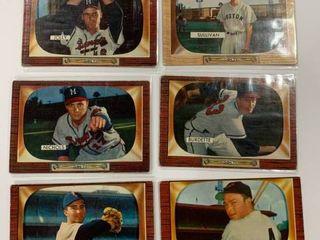 lot of 6 Classic 1955 Bowman  15 Frank Sullivan RC   70 lou Burdette   71 Dave Jolly   72 Chet Nichols   109 Vern Stephens   214 Billy Pierce