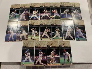 Set of 18 1985 leaf Donruss All Star Game Pop up Player Cards