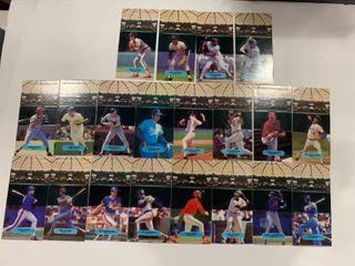 Set of 18 1986 leaf Donruss All Star Game Pop up Player Cards