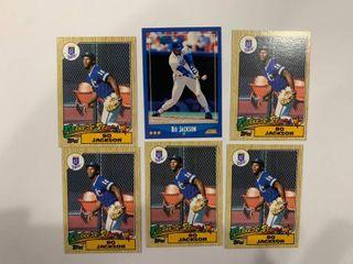 lot of 6 Bo Jackson Cards 1987 Topps  x5    1988 Score