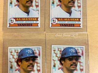 lot of 4 1979 Topps  700 Reggie Jackson All Star Cards