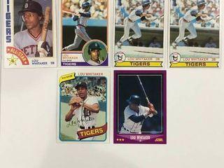 lou Whittaker lot 1979 Topps  x2  1980 Topps  1983 Topps  1984 Topps  88 Score