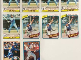 10 Card Gary Carter lot 1979 Topps  520  x5  1980 Topps  70  x3  83 Topps  370  88 Topps  530