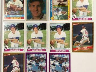 Don Sutton lot 1976 Topps  1979 Topps  x4  1983 Topps  Sportflics   More