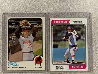 Two Cards 1973 Topps  220 Nolan Ryan  1974 Topps  20 Nolan Ryan