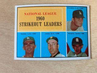 1961 Topps  49 1960 Nl Strikeout Champions  Sandy Koufax  Don Drysdale
