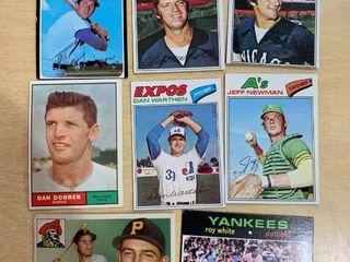 lot of 8 Vintage Baseball Cards