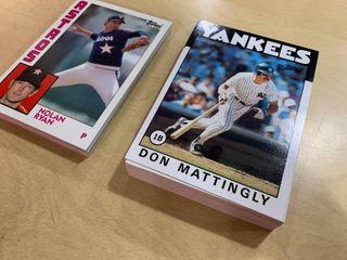1984 Topps Baseball 5x7 Oversized Card Set 1 30   1986 Topps Baseball 5x7 Oversized Card Set 1 60