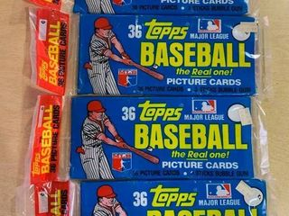 lot of 4 Sealed Rack Packs 1981 Topps Baseball  144 Total Cards
