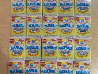 lot of 26 Sealed Packs 1981 Topps Coca Cola Baseball Trading Card Packs  Philadelphia Phillies