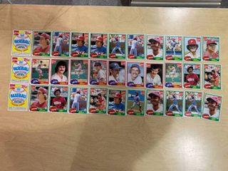 lot of 33 1981 Topps Coca Cola Baseball Trading Cards  Philadelphia Phillies  Pete Rose  Mike Schmidt  Steve Carlton   Red Sox