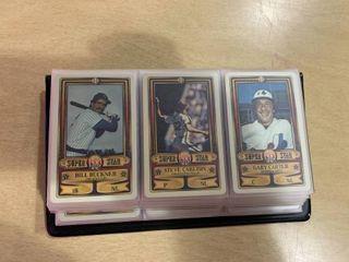 lot of 36 1983 Perma Graphics Credit Card Baseball Cards