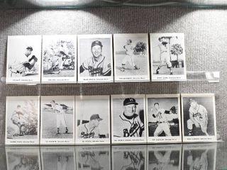 lot of 11 1960s Jay Publishing Team 5x7 Photos Milwaukee Braves Includes Hank Aaron  Warren Spahn  Eddie Matthews   More