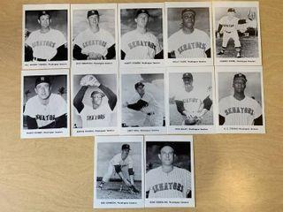 lot of 12 1960s Jay Publishing Team 5x7 Photos Washington Senators