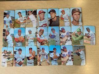lot of 22 1971 Topps Super Oversized Cardstock Baseball Cards 5 5 16  x 3 3 16