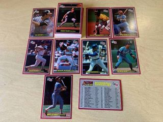 Set of 60 1984 Donruss Oversized Baseball Cards 5  x 3 5