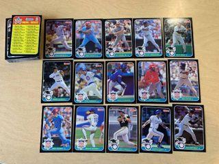 Set of 60 1987 Donruss Oversized Baseball Cards 5  x 3 5