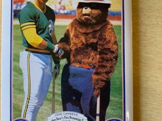 1987 Al Smokey Bear s Fire Prevention Team Baseball Postcard Set