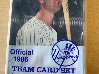 Sealed 1986 New York Yankees Team Issued TCMA Postcard Set