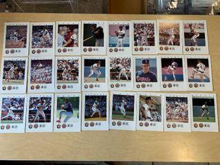 Set of 24 Smokey Bear California Angels Baseball Cards 1987