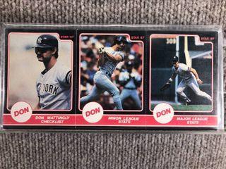 1987 Star 3 Panel 24 Card Full Set Don Mattingly  SEAlED