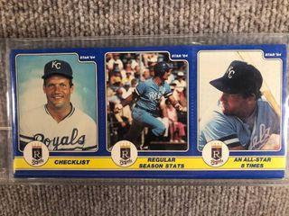 1984 Star 3 Panel 24 Card Full Set George Brett  SEAlED