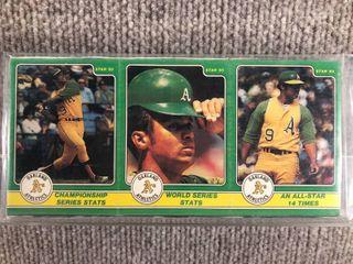 1985 Star 3 Panel 36 Card Full Set Reggie Jackson  SEAlED