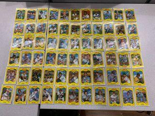 1981 KEllOGGS 3 D BASEBAll all 66 CARD SET RYAN ROSE BRETT CARlTON Carew Neikro