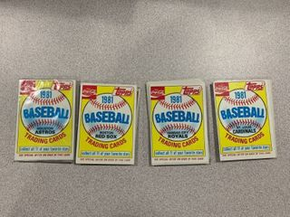 4 Sets of 11 1981 Topps Coca Cola Team Sets  Cardinals Royals Red Sox Astros